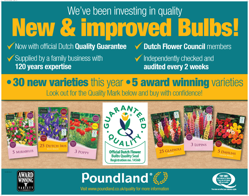 Poundland Gardening Bulbs Guarantee
