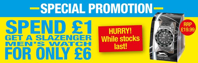 Poundland » Slazenger Watch Special Promotion