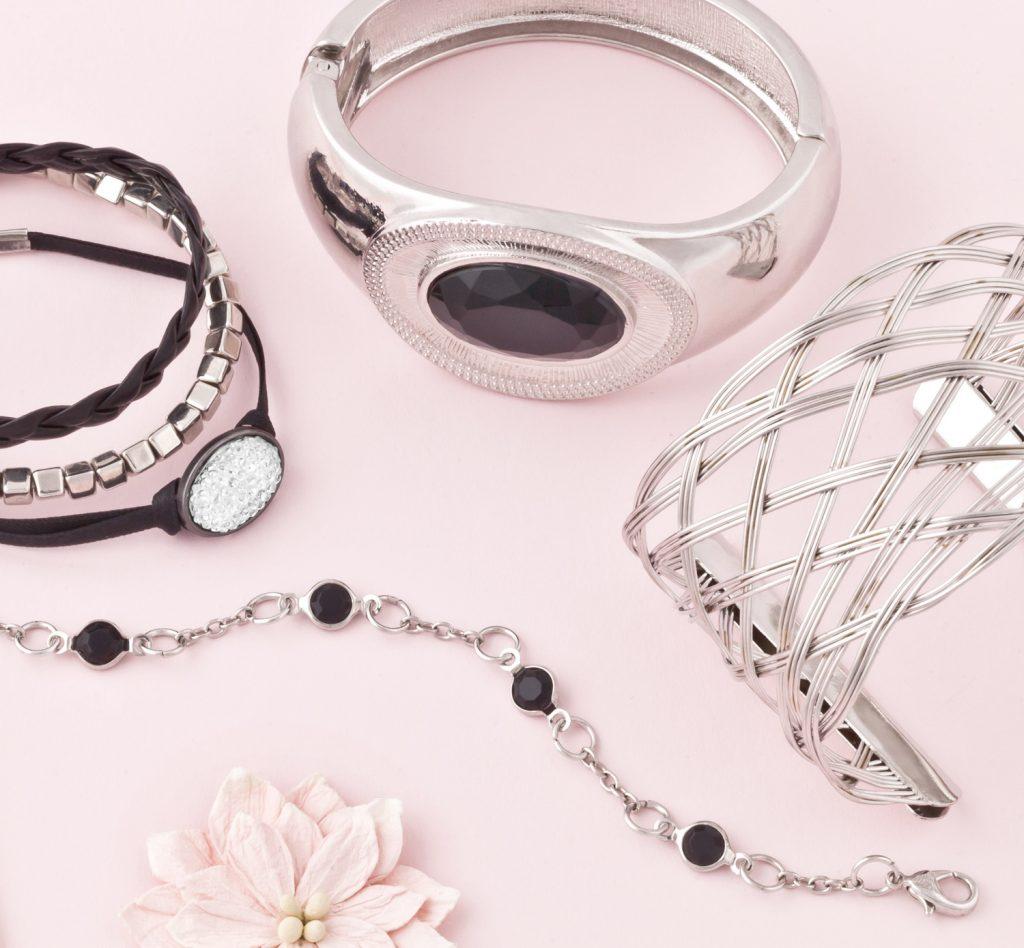 Purple Ivy Silver Bracelet Group