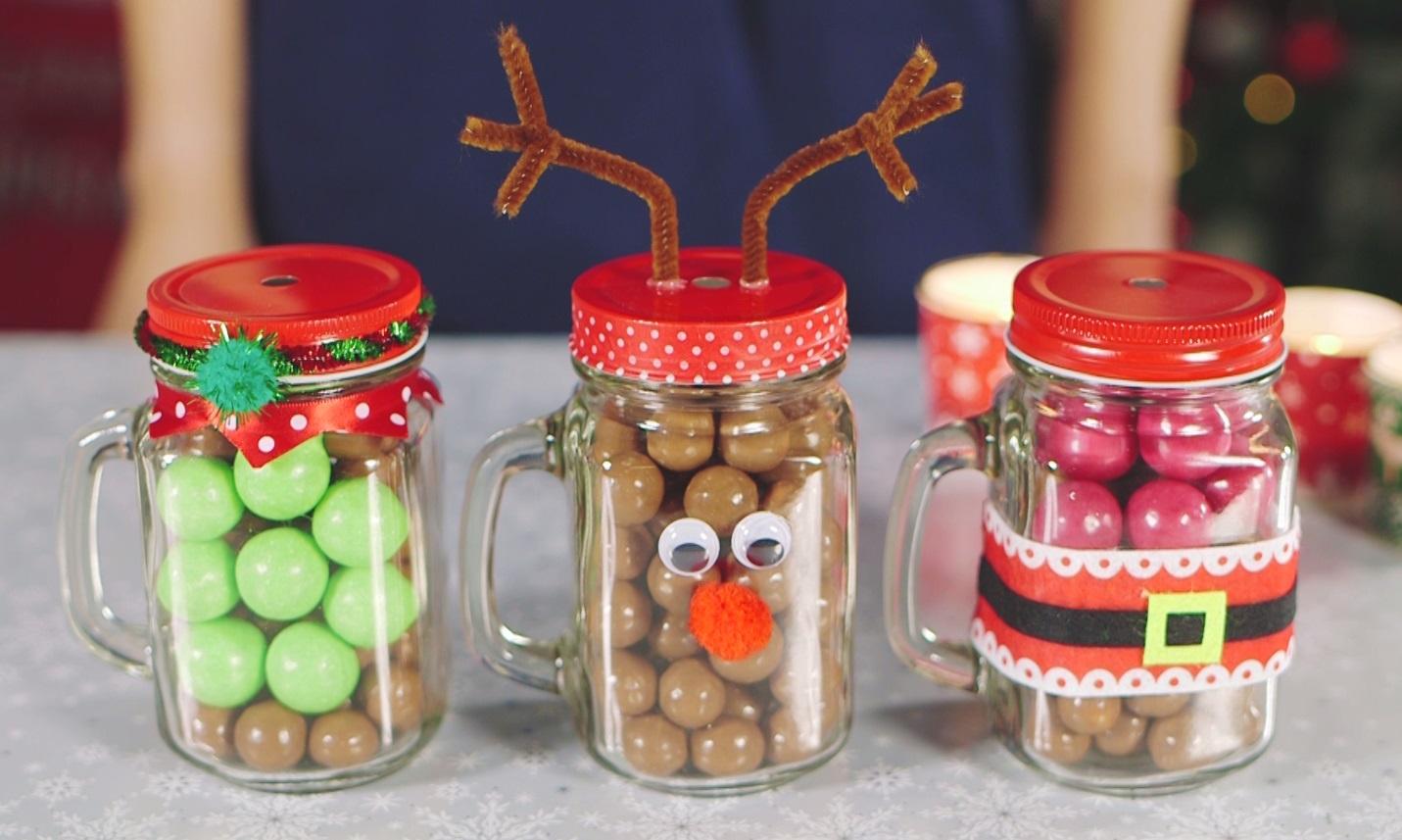 Poundland Christmas Mason Jar Gifts With Maltesers