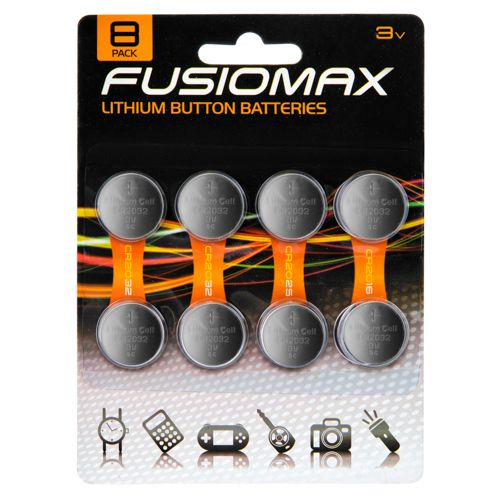 Fusionmax, Lithium Cell, 8 Pack