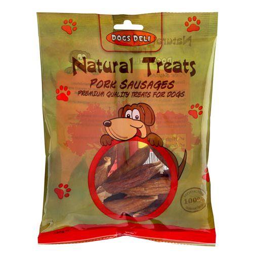 NATURAL PORK SAUSAGE DOG TREATS 120G