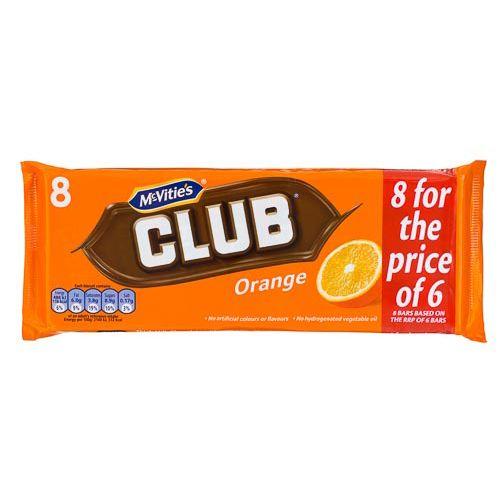 JACOB'S ORANGE CLUB BAR 6 PACK + 2 FREE