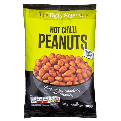 HOT CHILLI PEANUTS 300G