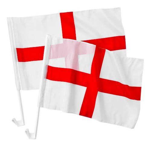 ENGLAND CAR FLAG 2 PACK