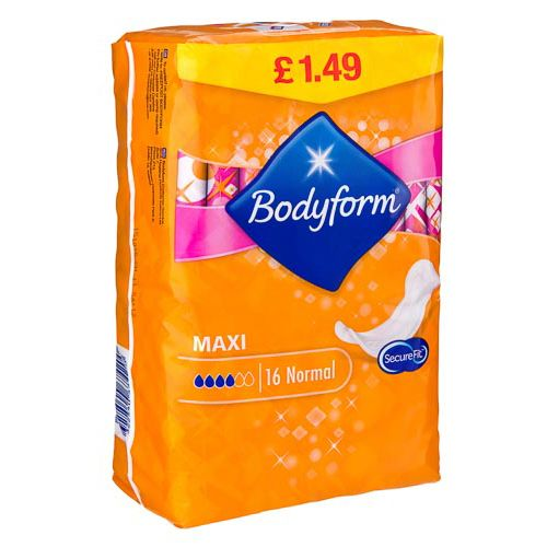 16 PACK BODYFORM MAXI NORMAL PADS