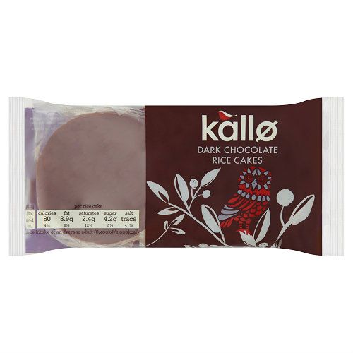 KALLO DARK RICE CAKES 100G