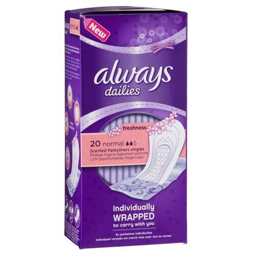 ALWAYS DAILIES SCENTED LINERS 20 PACK