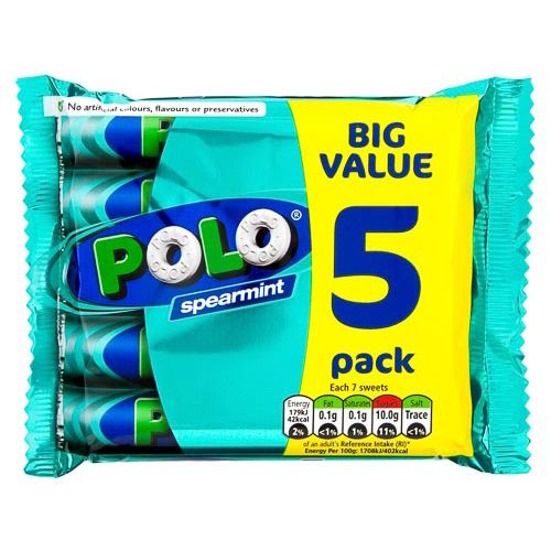SPEARMINT POLO 5 PACK