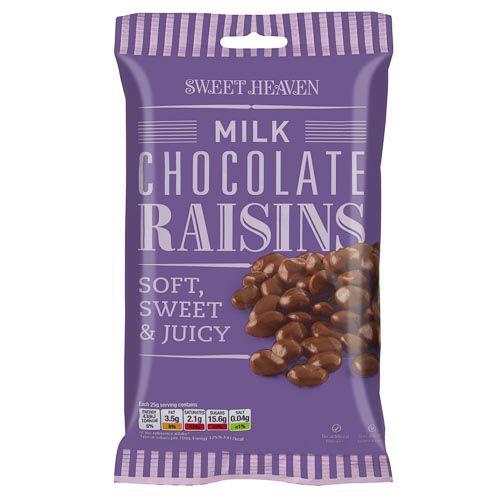 SWEET HEAVEN MILK CHOCOLATE RAISINS 230G