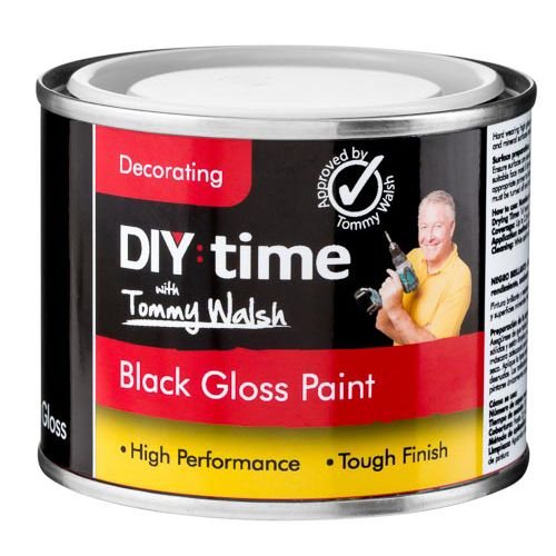 TOMMY WALSH BLACK GLOSS PAINT 175ML