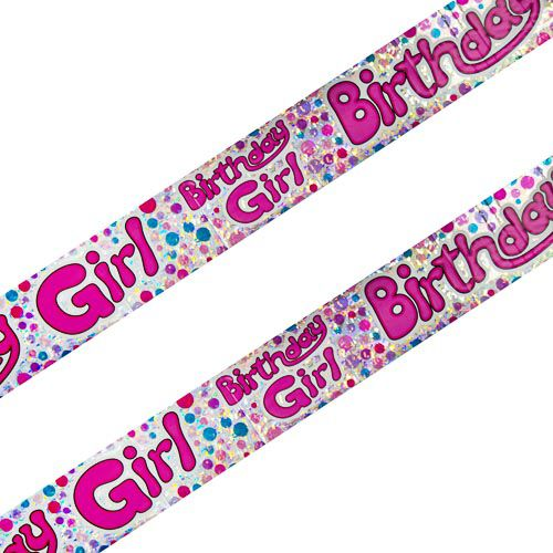 GIRLS PARTY BANNER 2 PACK