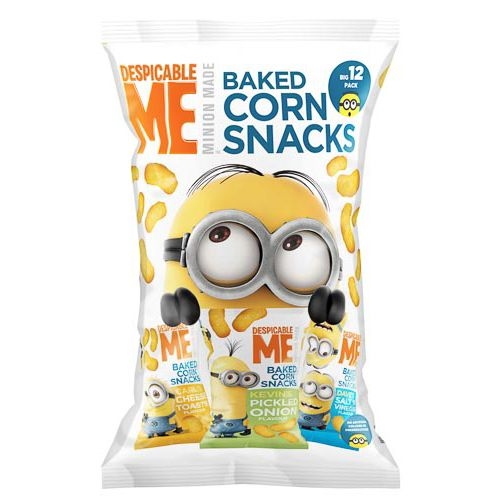 DESPICABLE ME CORN SNACKS 12 PACK