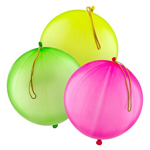 NEON PUNCH BALLOONS 5 PACK