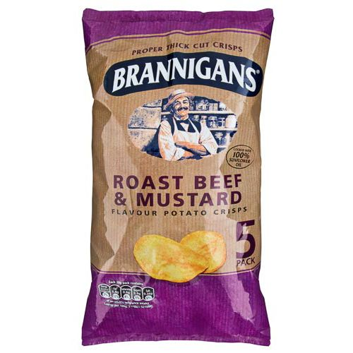 BRANNIGANS ROAST BEEF & MUSTARD 5 PACK