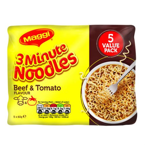MAGGI NOODLES BBQ BEEF 5 PACK