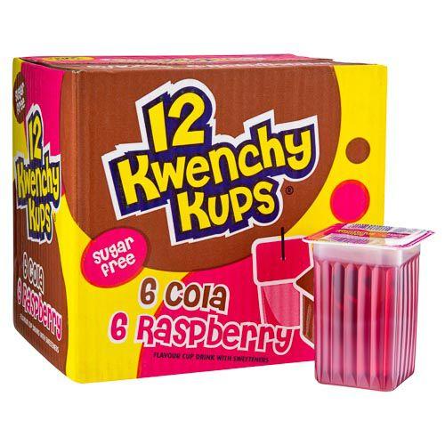 KWENCHY KUPS COLA & RASPBERRY 12 PACK