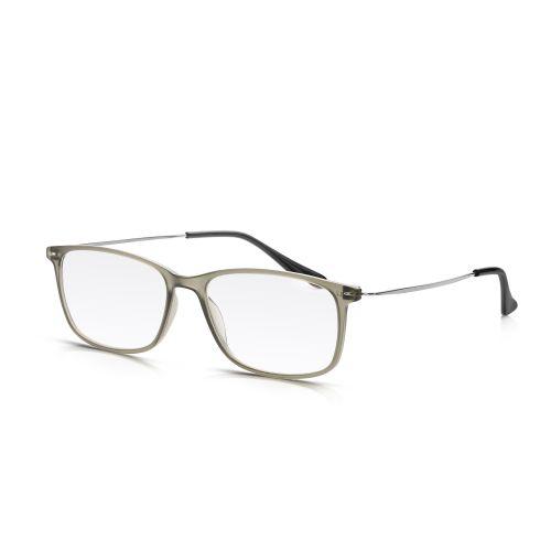 Grey Plastic, Metal Arm Reading Glasses +2.00