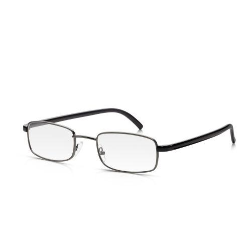 Black Metal Frame Reading Glasses +2.00