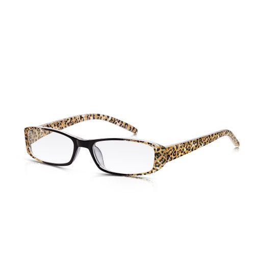 Leopard Plastic Frame Reading Glasses +3.50