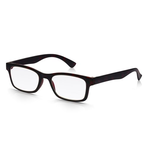 Black Plastic Reading Glasses +2.50