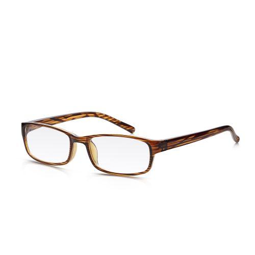 Plastic Wood Frame Reading Glasses +2.50