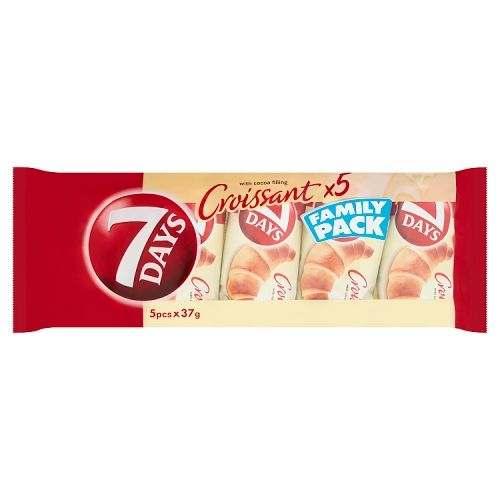 7 Days Croissant With Cocoa Filling 5 Pack