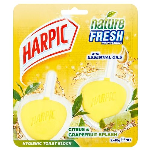 Harpic Hygienic Toilet Rim Block Citrus 2x40g