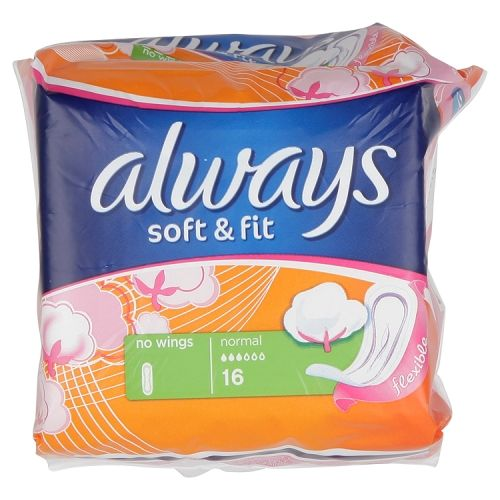 ALWAYS SOFT&FIT NORMAL 16'S