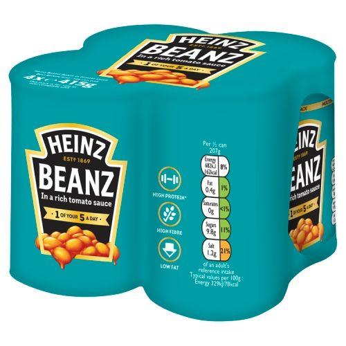 Heinz Baked Beans 4x415g