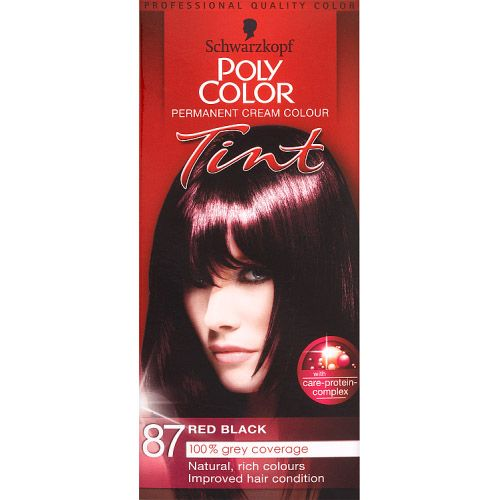 POLY COLOUR RED BLACK 87