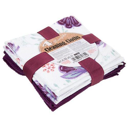 Floral Microfibre Cloths (4 Pack)