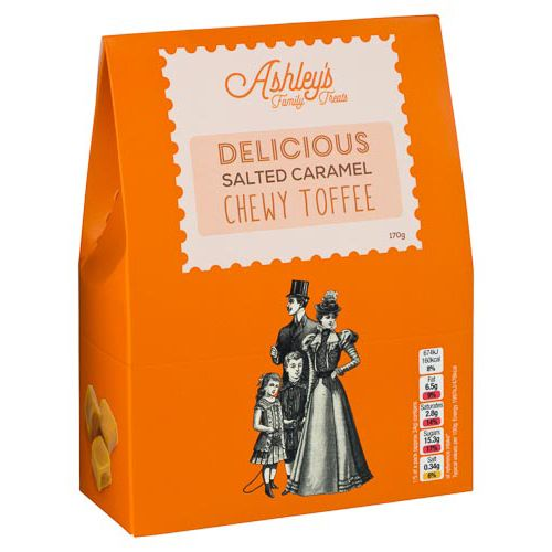 Ashleys Family Treats Salted Caramel Toffee 170g
