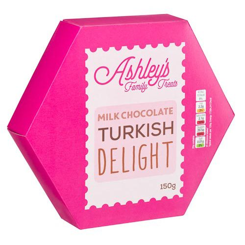 ASHLEY'S CHOCOLATE COVERED TURKISH DELIGHT 150G