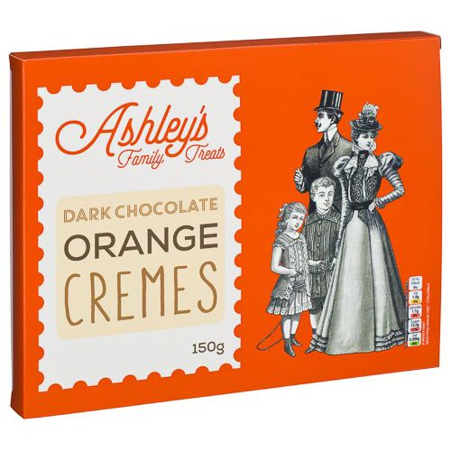 ASHLEYS FAMILY TREATS ORANGE CREMES 150G