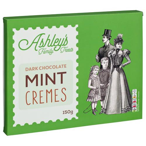 ASHLEYS FAMILY TREATS MINT CREMES 150G