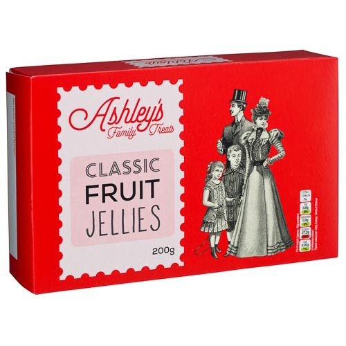 ASHLEYS FAMILY TREATS FRUIT JELLIES 200G