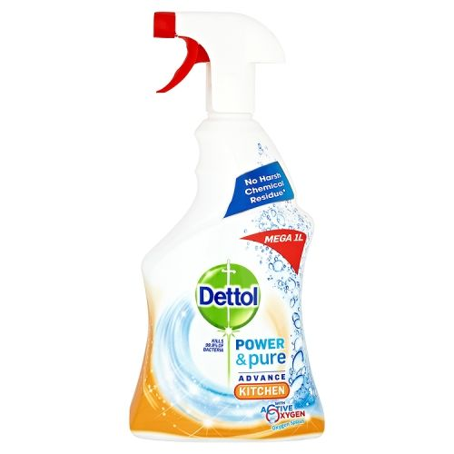 DETTOL KITCHEN CLEANER SPRAY POWER & PURE 1 LITRE