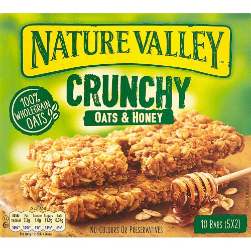 NATURE VALLEY OATS & HONEY CEREAL BARS 5X42G