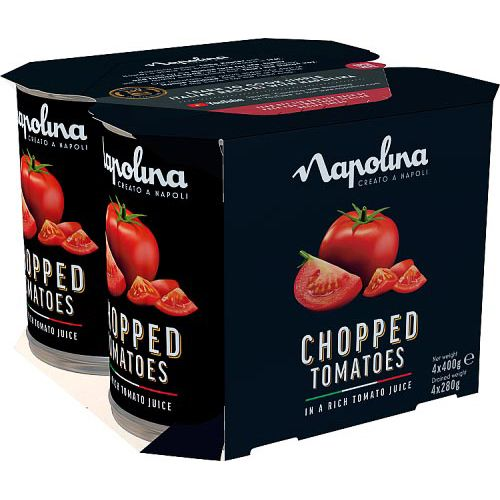 Napolina Chopped Tomatoes 4 Pack