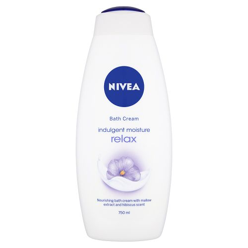 NIVEA BATH CREAM INDULGENT MOISTURE RELAX 750ML