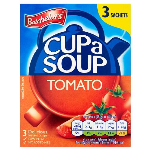 Batchelors Cup A Soup Tomato 3 X 68g
