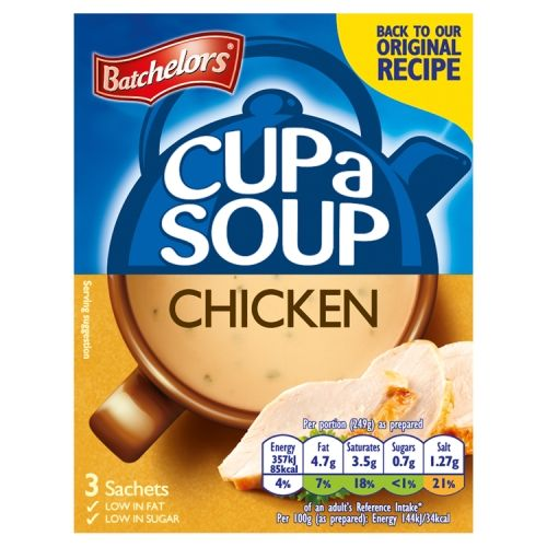 Batchelors Cup A Soup Cream of Chicken 3 X 68g
