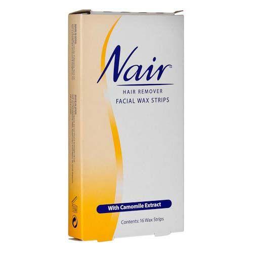 NAIR FACIAL WAX STRIPS 16 PACK