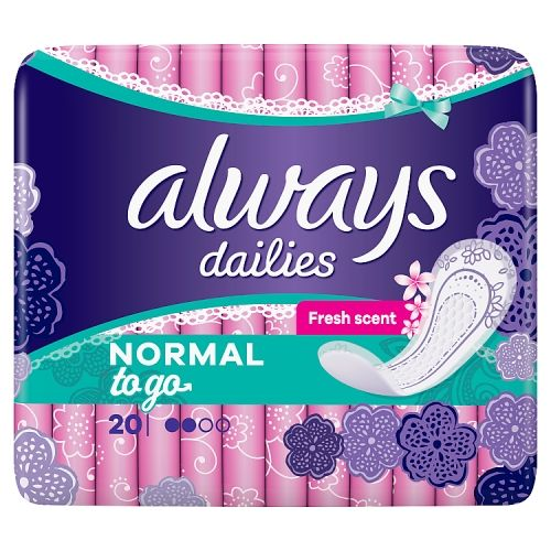 Always Singles Scented Panty Liners 20 Pack