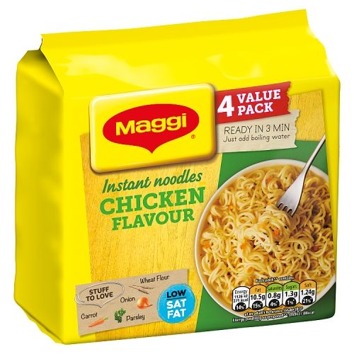 Maggi 3 Minute Instant Chicken Noodles 4 Pack
