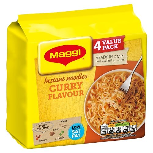 Maggi 3 Minute Instant Noodles Curry 4x59g