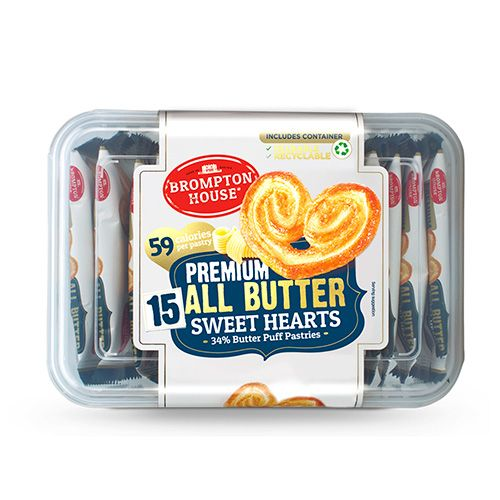BROMPTON HOUSE ALL BUTTER SWEETHEARTS 165GR