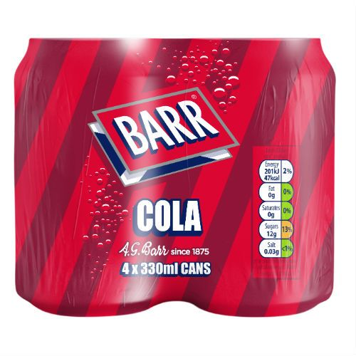 BARRS COLA 4X330ML