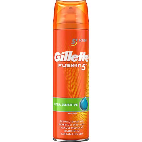 GILLETTE FUSION5 ULTRA SENSITIVE MEN'S SHAVING GEL
